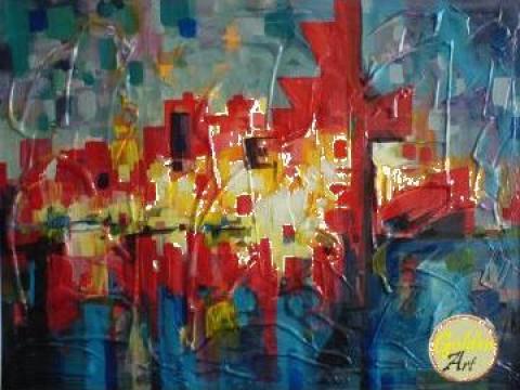 Picturi calciu Abstracte: 80 X 60 cm de la Web Dev Shop Srl