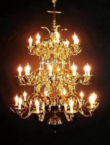 Candelabru bisericesc - policandru, candelabre, policandre de la Electro Lighting Srl