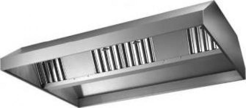 Hota centrala din inox cu filtre metalice de la Mabro Profesional S.r.l.