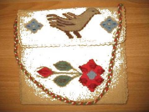 Traista traditionala romaneasca tesuta manual de la Australis Prod