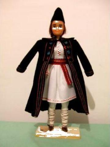 Papusa artizanat baiat - Costum popular Teleorman de la If Popescu M. Ana