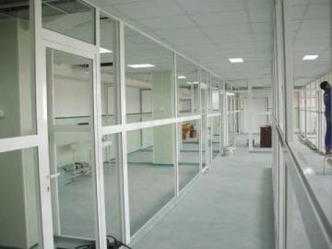 Compartimentari interioare, pereti din aluminiu - Constanta