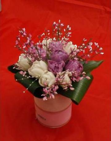 Buchet de mireasa cu lalele de la Floraria Stil