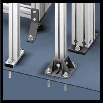 Picioare pentru profile de aluminiu