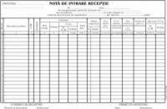Formular nota intrare receptie, A4, tipar fata, 100 file/car