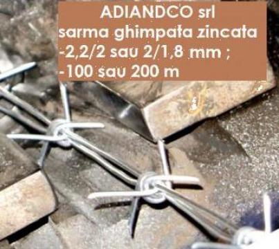 Sarma ghimpata zincata 2 -100 m