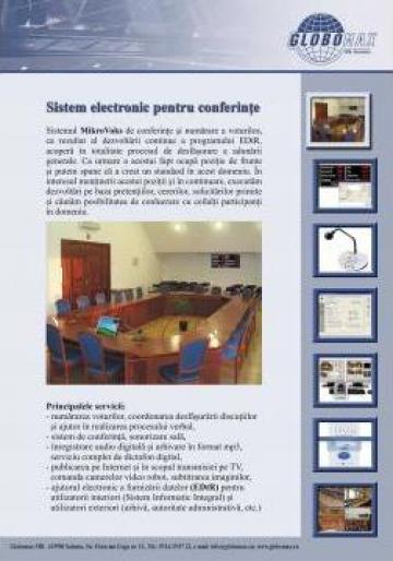 Sistem de vot cu inregistrare digitala de la Globomax Srl