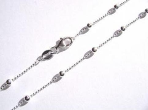 Lant din argint de dama cu bile de la Cora Silver Srl