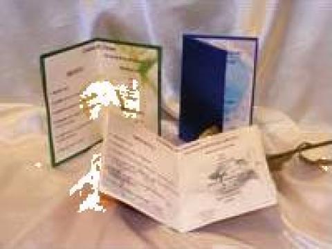Meniu nunta personalizat de la Sian Image Media Srl