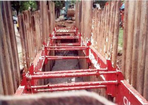 Scuturi santuri sprijinire sapaturi - excavatii de la Blackbull Com Ro