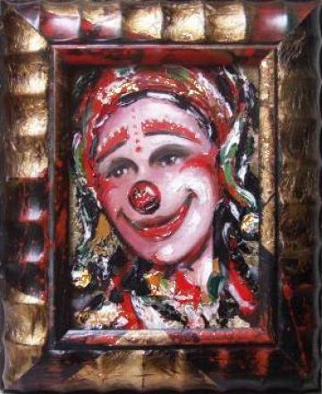 Pictura Arlechini - ulei pe panza de la Elemonart