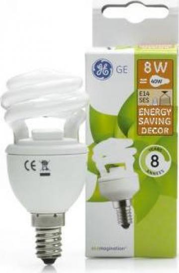 Bec Economic General Electric 8W, 9W, 11W, 15W de la Sm Media Market Acces Srl