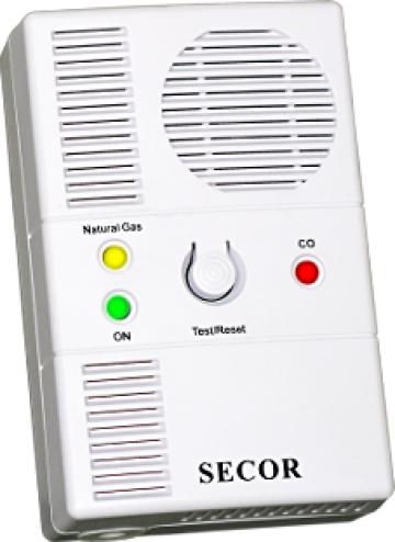 Detector gaz si monoxid cu electrovana 3/4 Secor 2000