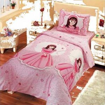 Lenjerie de pat pentru copii plus fete de perna de la Johnny Srl.