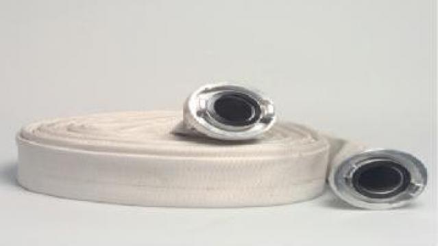Furtun plat cu exterior textil cu cuple Storz 3 inch de la APF Trade Srl