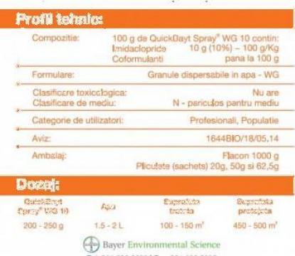 Insecticid Quick Bayt Spray wg 10 - 62,5 G de la Ekommerce Est Srl
