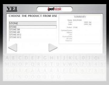 Software program de automatizare cantariri intrare / iesire de la Samas 2000 Srl