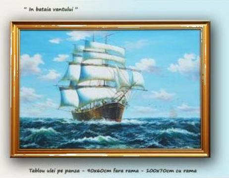 Tablouri marine, vapoare - 90x50cm cu rama de la Galeria Artnova