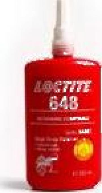 Adeziv fixare asamblari cilindrice Loctite 648 / 250ml de la Baza Tehnica Alfa Srl