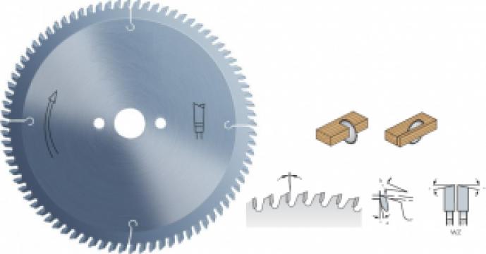 Panza circular pentru debitat lemn, D250 mm de la Akkord Group Srl
