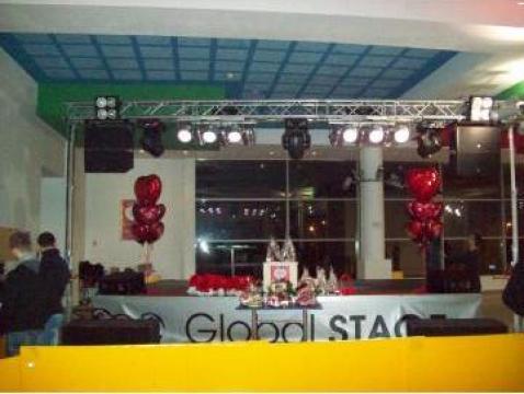 Scena Sunet Lumini interior Global Stage de Valentine's Day