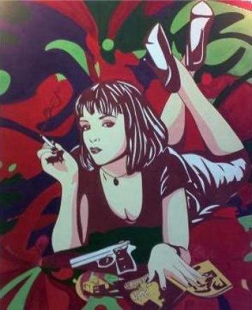 Portret Uma Thurman (Pulp Fiction) de la Adrenocrom