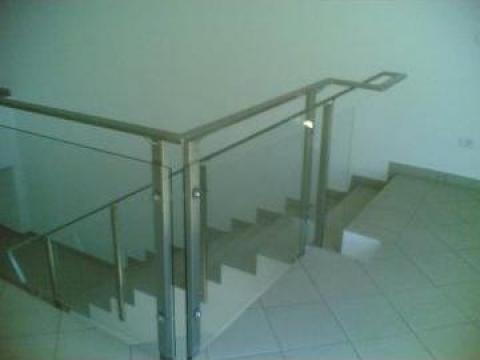 Balustrada sticla - inox satinat de la New Metal Design SRL