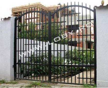 Poarta si gard din fier forjat Step de la Loby Design