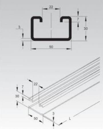 Sina C 50x30x3mm de la Niedax Srl