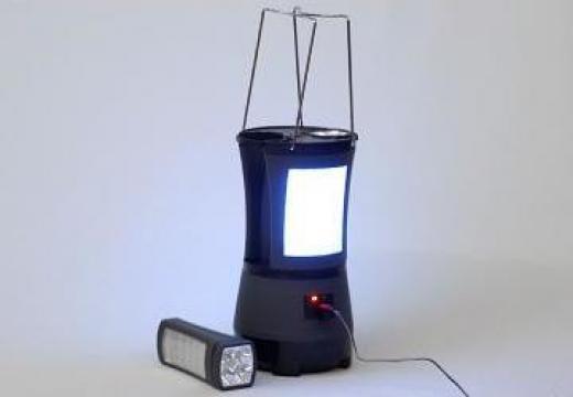 Lampa camping + 2 lanterne cu LED