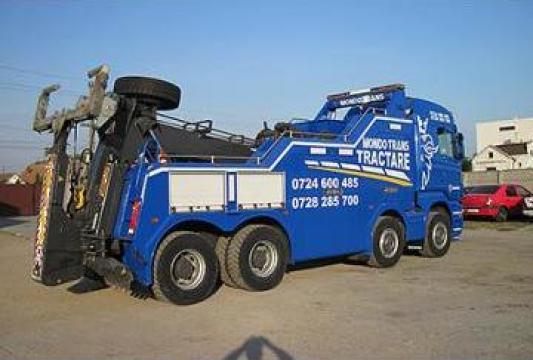 Tractari camioane si autovehicule de mare tonaj de la Mondotrans