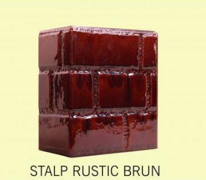Cahle Stalp + placa pt soba Rustic Brun de la Fancris Srl
