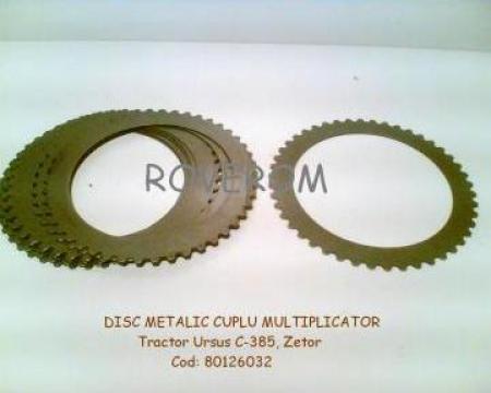 Disc metalic cuplu multiplicator tractor Ursus C-385, Zetor
