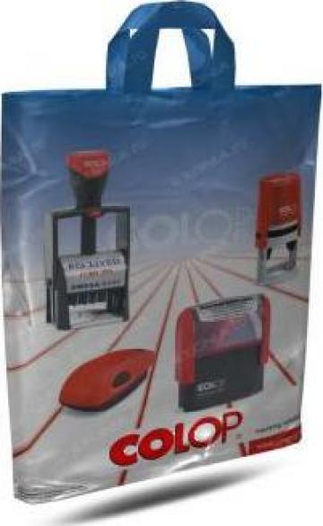 Sacosa cu maner aplicat personalizata de la Fabrica De Ambalaje Exonia Holding SRL