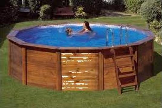 Piscina supraterana lemn timisoara teo pool construct - Piscina a sale ...