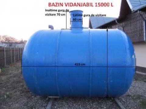 Rezervor fibra sticla vidanjabil 15.000 L