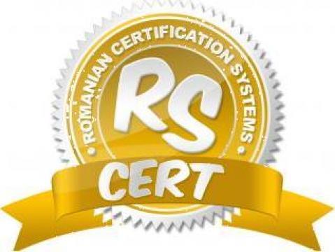 Certificare ISO 9001 de la Rs Cert - Romanian Certification Systems