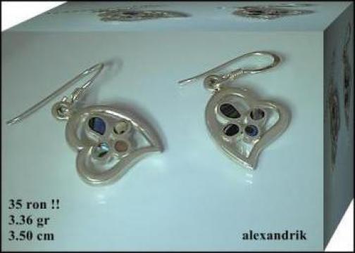Cercei argint 925 cu abalone