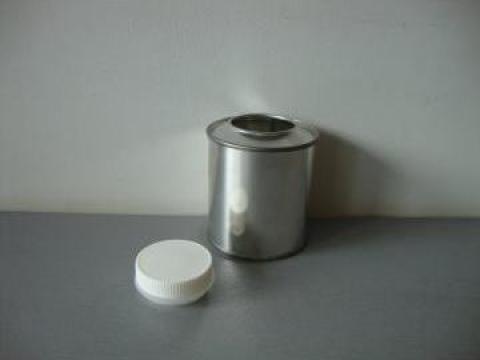 Cutie din metal cu capac de plastic0.300ml