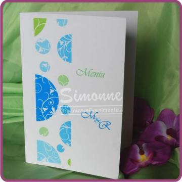 Meniu nunta verde, bleu de la Simonne