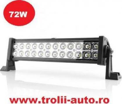 Proiector auto led bar 72W spot 5400 lumeni de la Trolii-auto.ro