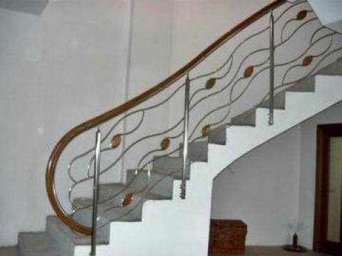 Balustrade inox, lemn, fier forjat, sticla securizata de la Artinox Design