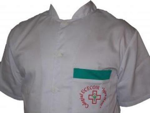 Halat medical guler tunica alb de la Johnny Srl.