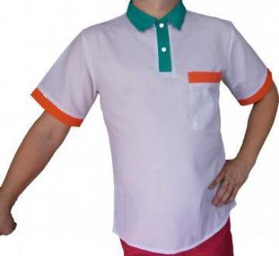 Tricou alb cu revere de la Johnny Srl.