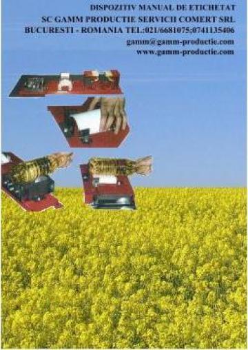 Dispozitiv manual de etichetat de la Gamm Productie Servicii Comert Srl