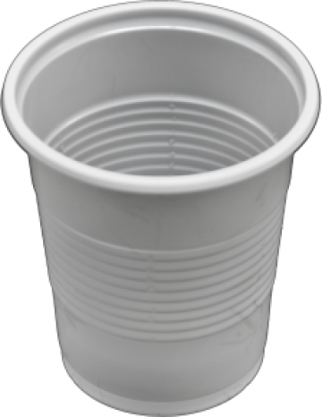 Pahar plastic alb de la Estetik Packing