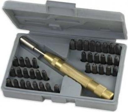Pansoane cifre si litere 4mm 37 buc. de la Zimber Tools