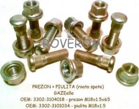 Prezon + piulita roata spate Gaz-3302, 2705 (Gazelle)
