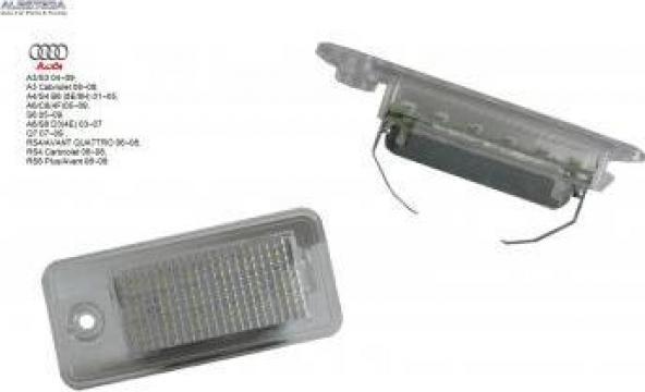 Lampa numar LED Audi Q7, A3, A4, A6, A8, RS4, RS6, S6 de la Alesteda Srl