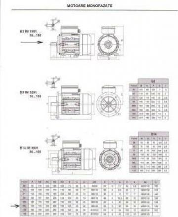 Motor electric monofazat 2.2kW x 3000rpm de la Baza Tehnica Alfa Srl
